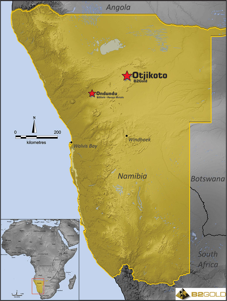 Otjikoto Project Location Map
