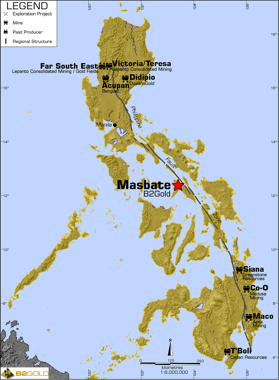 Gold Mines In World Map.B2gold The World S New Senior Gold Producer Masbate Mine The
